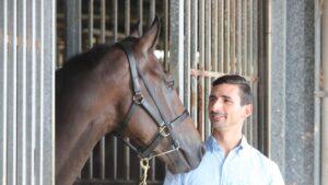 Trainer Michael Costa and Malahide at Bundall. Picture Glenn Hampson
