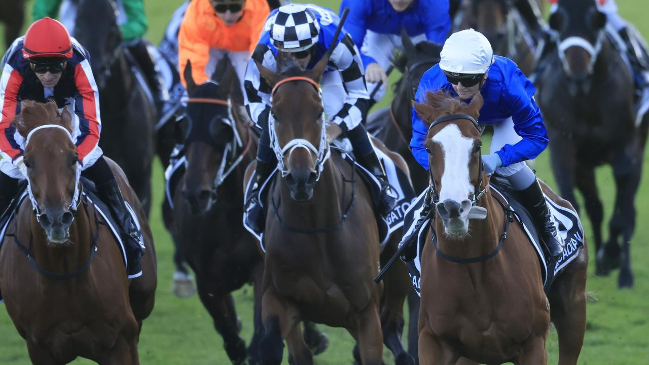 Dalasan (left) goes down narrowly in the Star Doncaster. Photo: Mark Evans/Getty Images