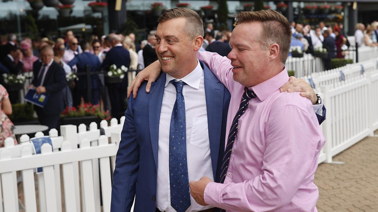 Tony Gollan (L) is stuck in Brisbane and unable to head to Sydney to watch Krone. Photo: Mark Evans/Getty Images