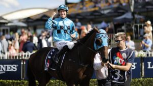 Tommy Berry on Mo'unga. Photo: Mark Evans/Getty Images