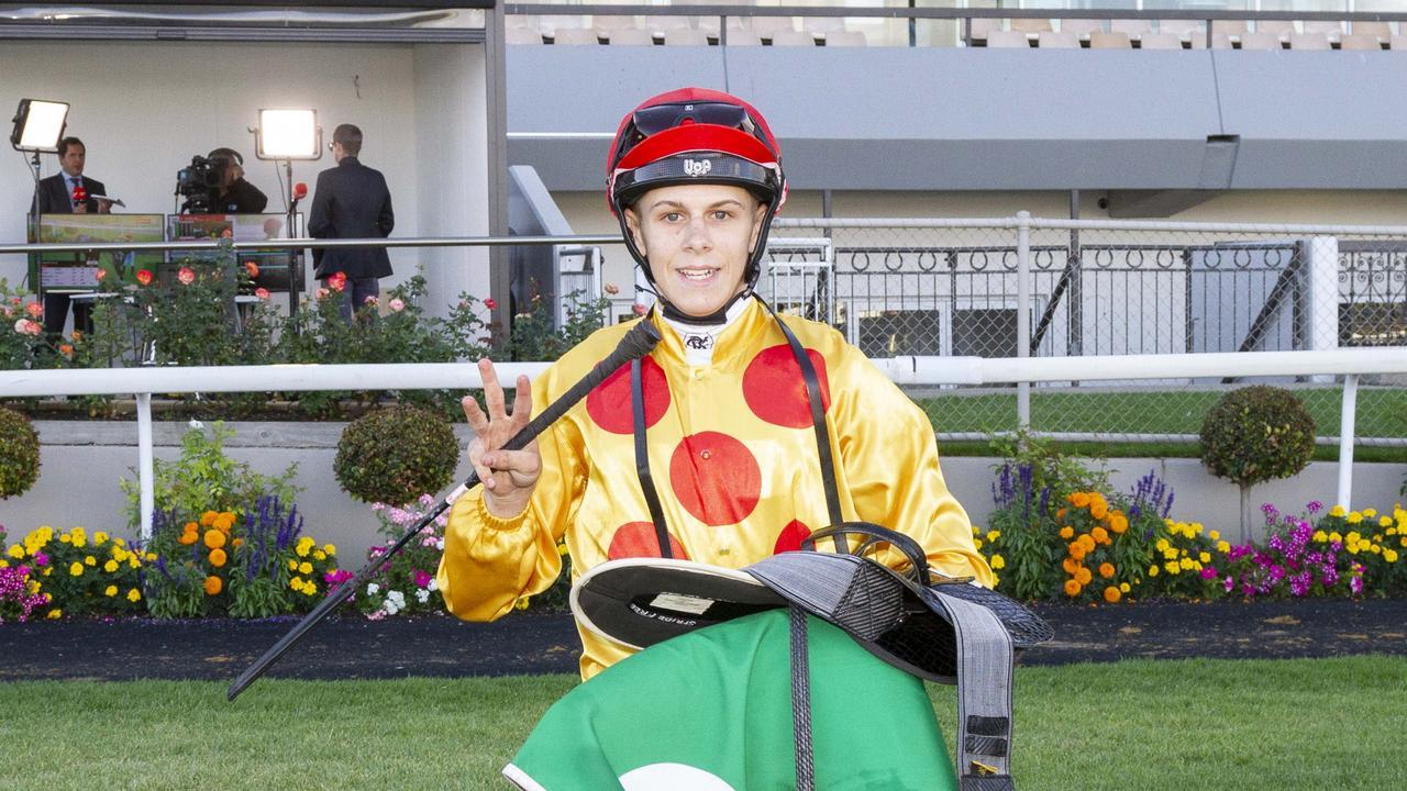 Jacob Opperman finished with a Morphettville treble on Saturday before hitting the road. Photo: Atkins Photography