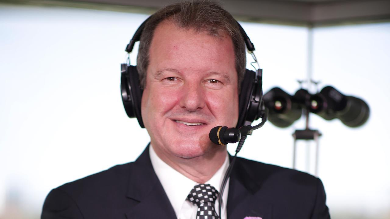 Sydney's premier racecaller Darren Flindell is all geared up for the five Group 1s at Rosehill on Saturday. Picture: Christian Gilles