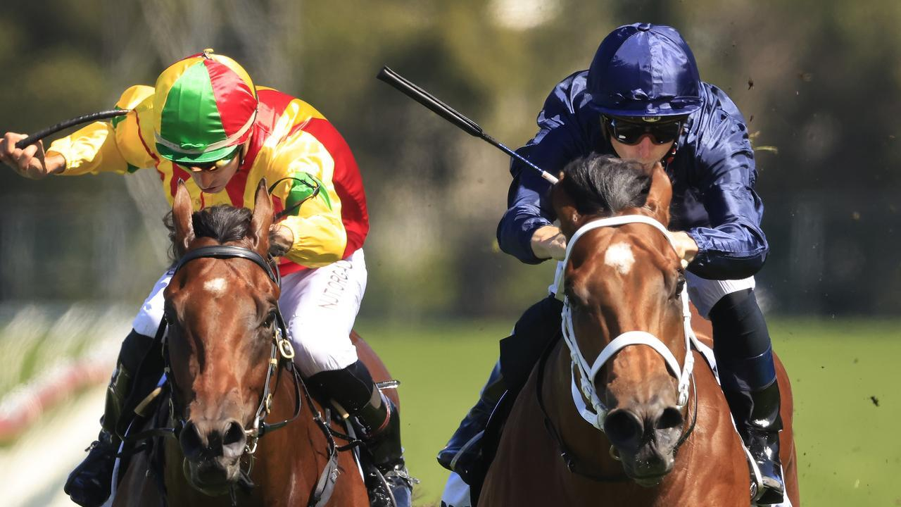 James McDonald on Home Affairs takes out the Silver Slipper Stakes. Picture: Getty Images