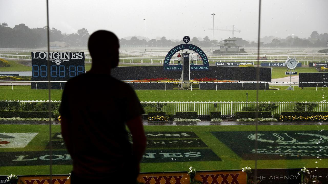 The Golden Slipper had to be postponed due to terrible Sydney weather. Picture: Sam Ruttyn