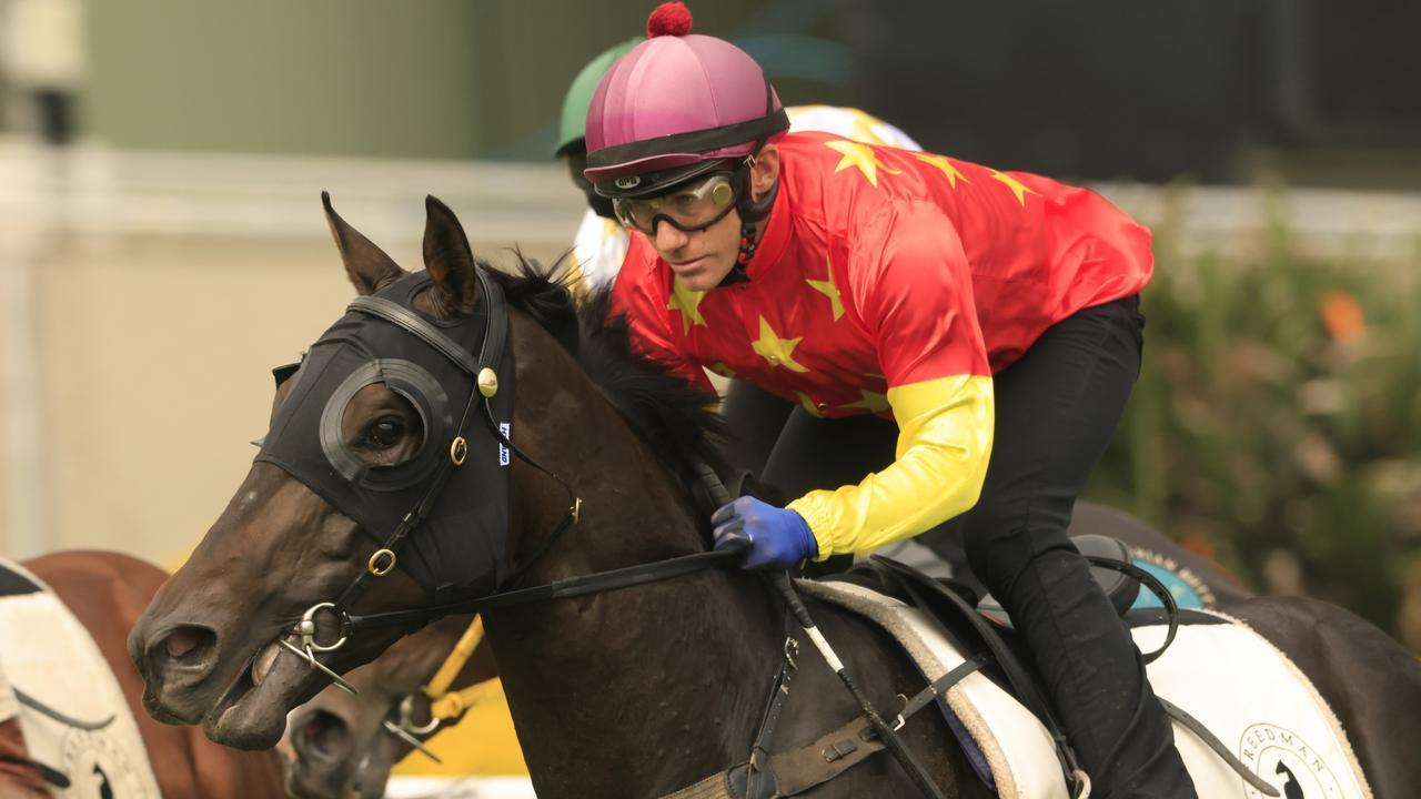 Jockey Luke Currie trialled Golden Slipper hopeful Artorius at Randwick last Thursday. Photo : Mark Evans/Getty Images.