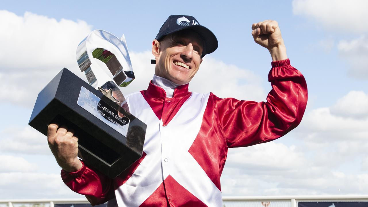 WA jockey William Pike won last year's All-Star Mile on Regal Power. Can he repeat the effort with Arcadia Queen at The Valley on Saturday? Photo : AAP Image/Vince Caligiuri.