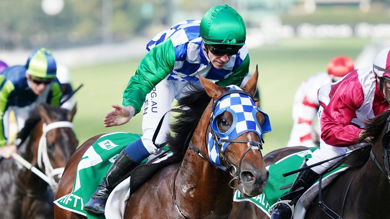 Jockey John Allen and Fifty Stars will be chasing back-to-back wins in the Australian Cup on Saturday. Picture: AAP