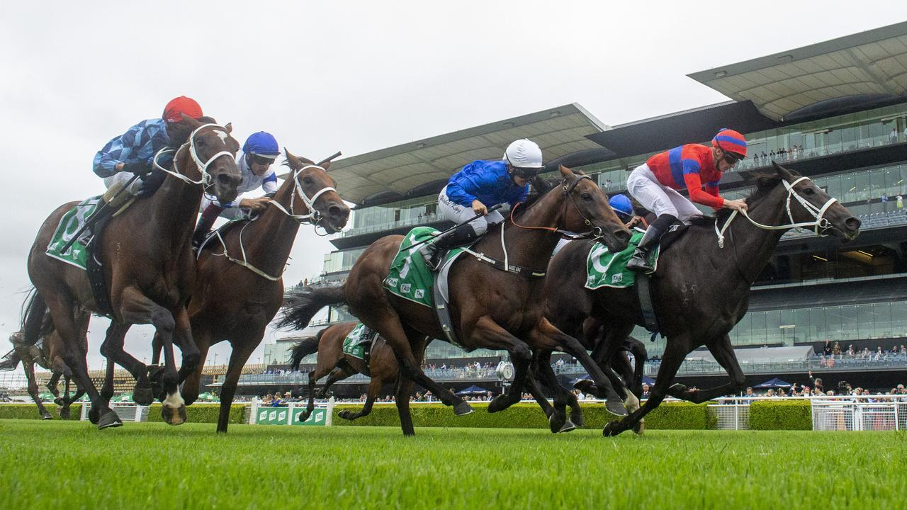 Verry Elleegant dug deep to win the Chipping Norton Stakes. Picture: Getty Images