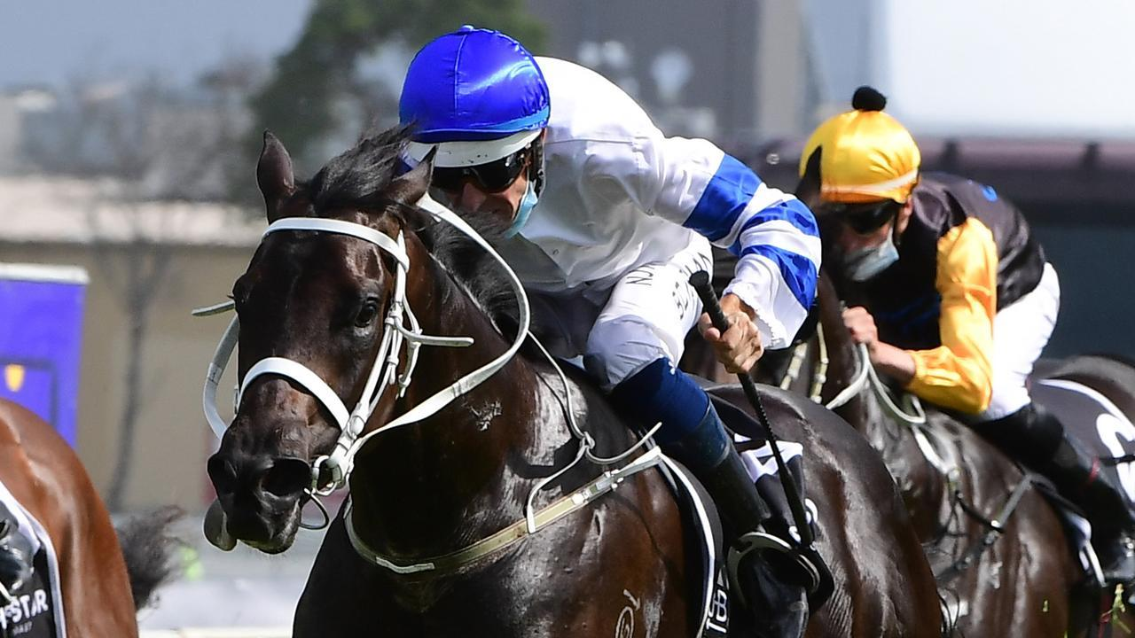 Hugh Bowman rode Shaquero to victory in the Magic Millions 2YO Classic. Picture: Trackside Photography
