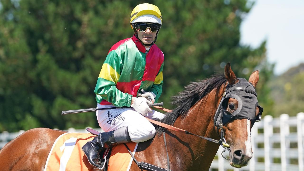 Noel Callow has fallen off his ride in Geelong. Picture: Scott Barbour/Racing Photos via Getty