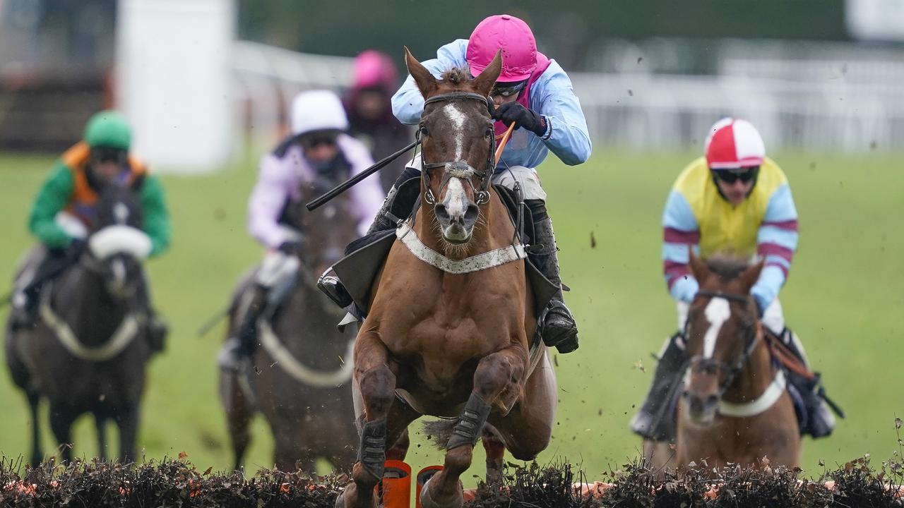 James Davies riding Mr Jack clear the last to win at Plumpton on Sunday
