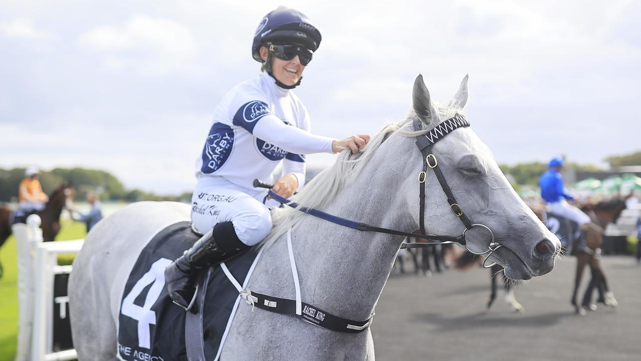 Rachel King and Greysful Glamour will chase another ffeature race win at Royal Randwick on Boxing Day. Picture: Getty Images