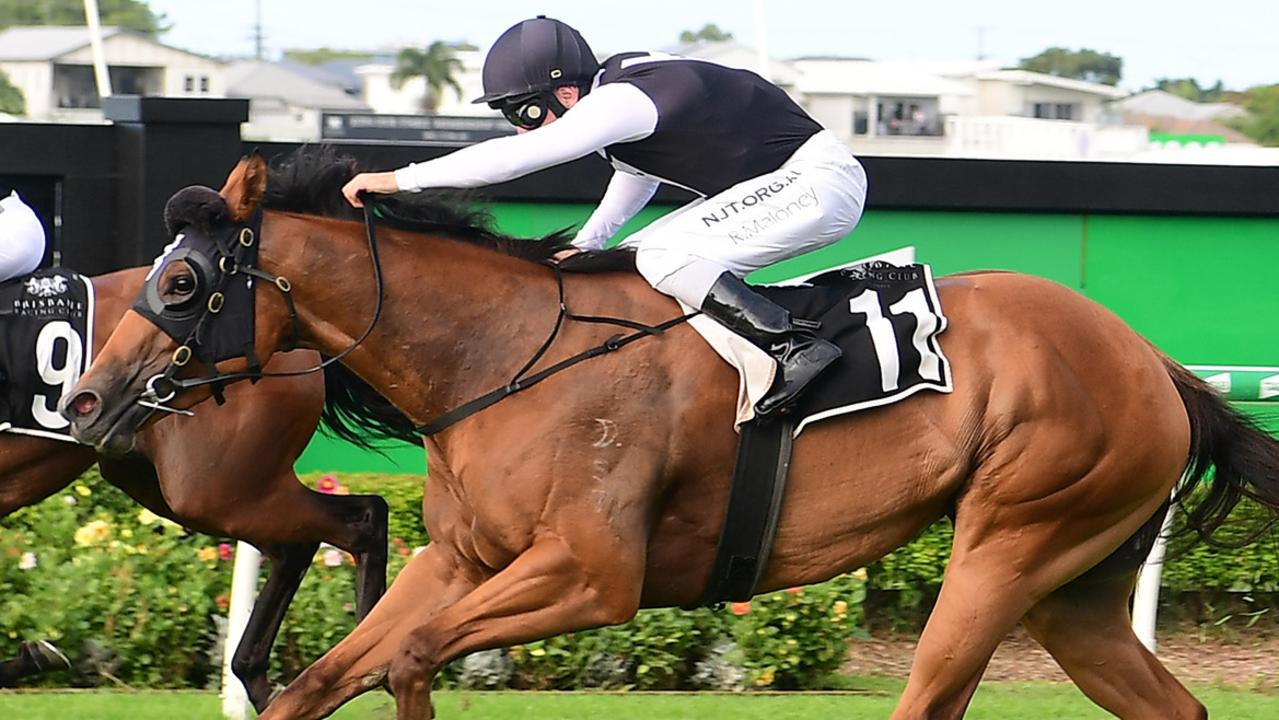 Isotope scored a stunning win in the Gold Edition Plate at Doomben. Picture: Trackside Photography