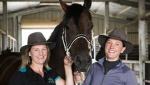 Lucy and Emma Longmire are twin sisters and racehorse trainers in Goulburn
