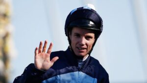 Jockey Tim Clark put a couple of Wyong Magic Millions 2YO Classic contenders through their paces on Tuesday. Photo: Daniel Munoz/Getty Images.