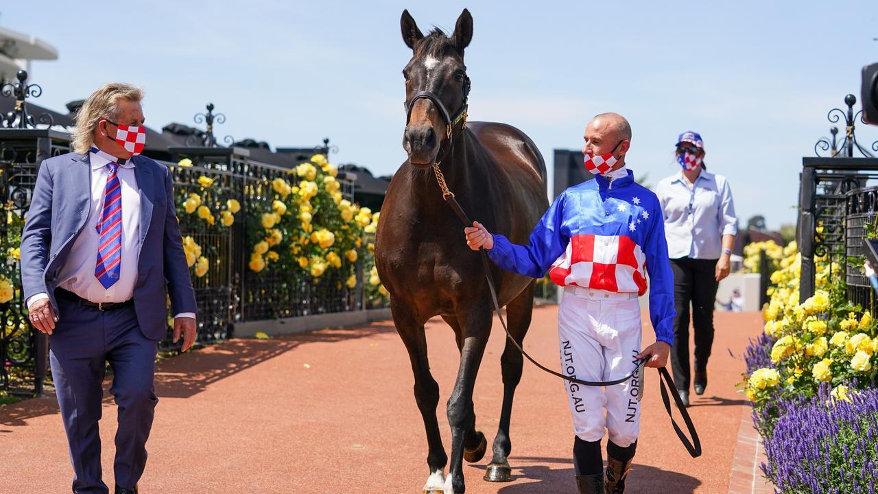 Glen Boss catches up with his mighty Melbourne Cup winner