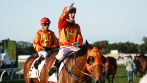 Jockey Robert Thompson will ride at Doomben on Saturday. PICTURE: BRENDAN RADKE