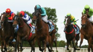 Outsider Irish Flame (centre) takes out the Ballarat Cup on a day where punters on the receiving end with no favourites saluting.