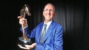 Peter Tighe at the Australian Horse of the Year awards. Picture: Zak Simmonds