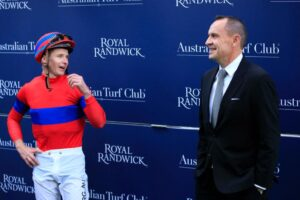 Both James McDonald (L) and Chris Waller fared well at the NSW Racehorse Owners Association Night Of Champions Award night.