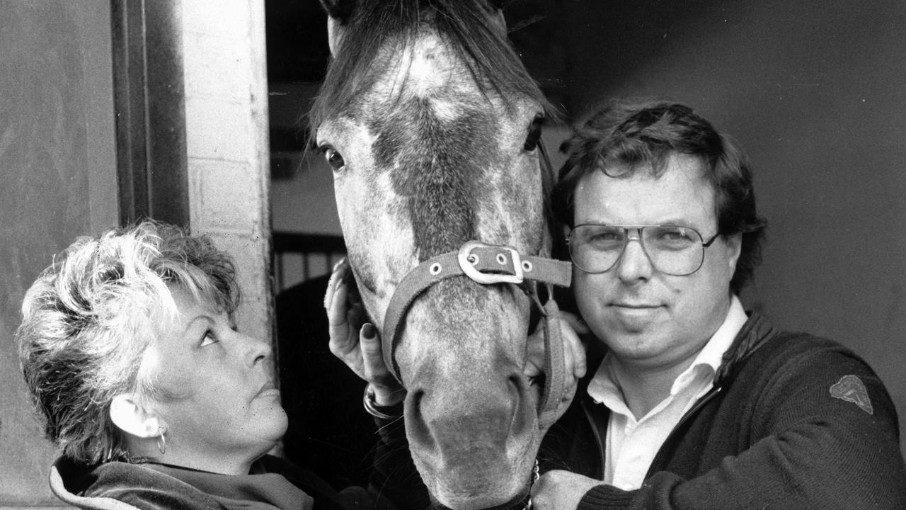 Greg Mance with wife Di and Cole Diesel back in 1989.