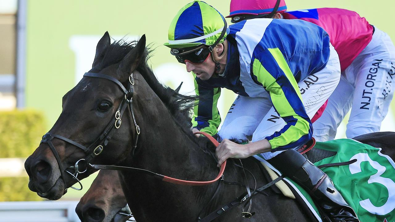 Mirage Dancer broke through for his first Australian win in the Group 1 The Metropolitan at Randwick. Picture: Getty Images