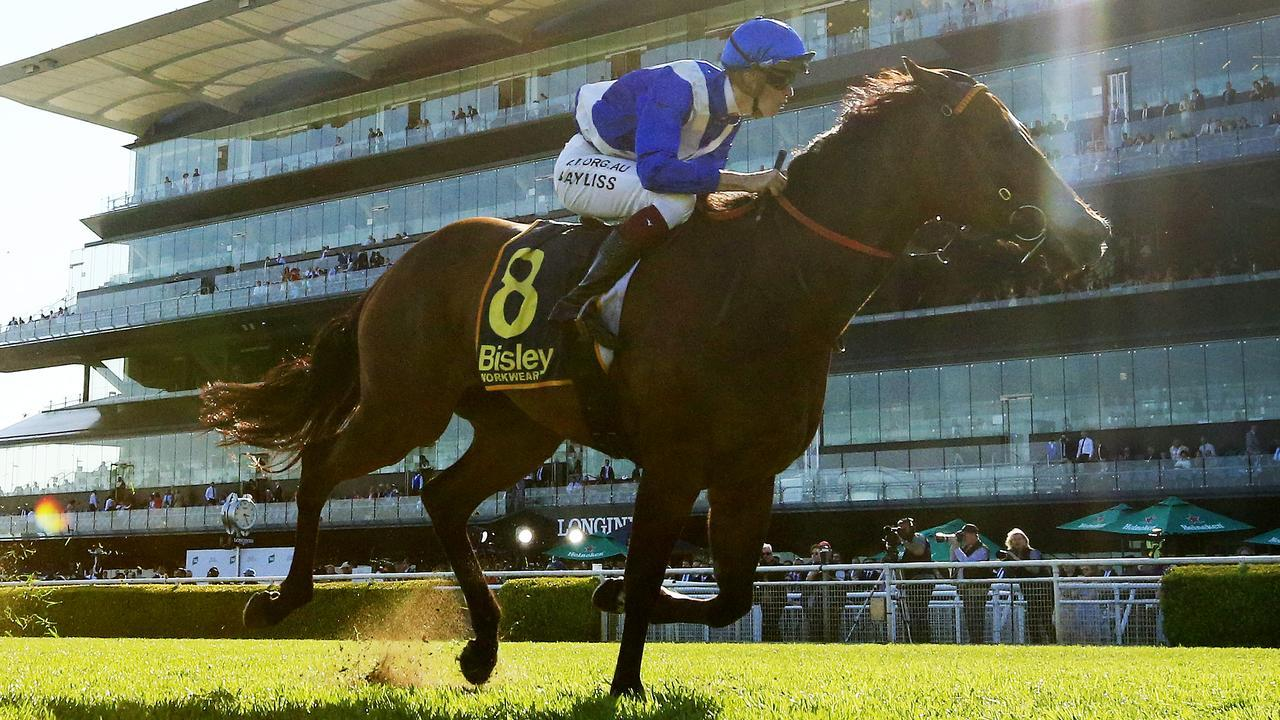 Libertini surged into The Everest frame with a stunning first-up win in the Premiere Stakes. Picture: Getty Images
