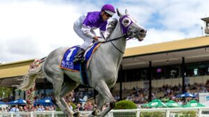 Back-from-the-dead Queenslander The Candy Man will have a crack at another Epsom on Saturday. Picture: AAP