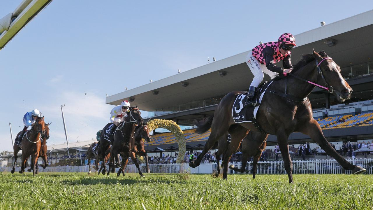 Rothfire scored a brilliant win in the Run To The Rose at Rosehill Gardens. Picture: Getty Images
