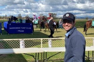 Will Freedman was all smiles after his first winner at Narromine on Sunday.