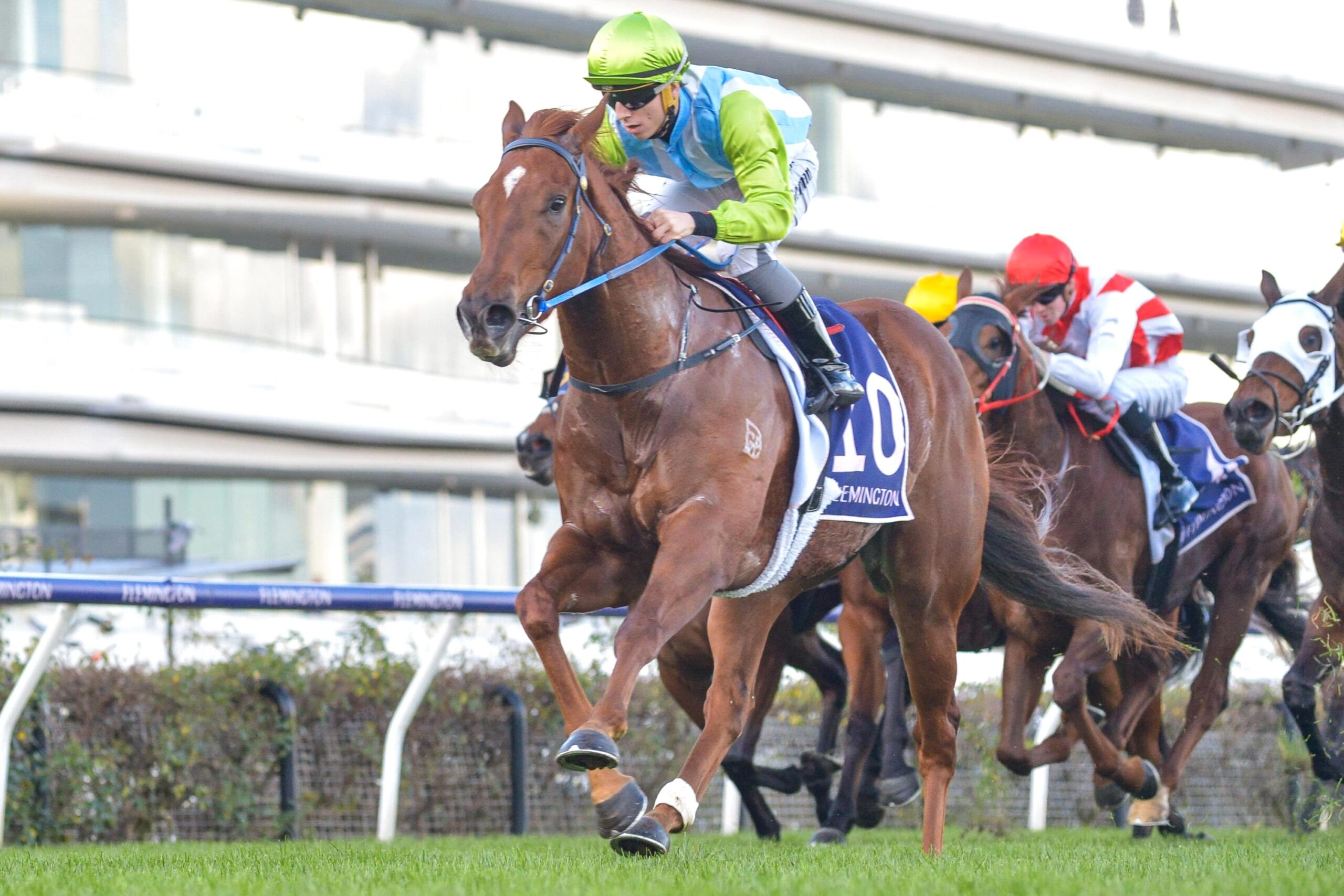 Front Page wins in dynamic fashion at Flemington.
