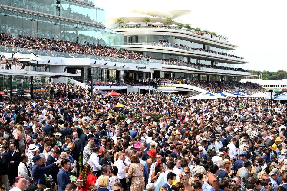 Melbourne Cup crowds.