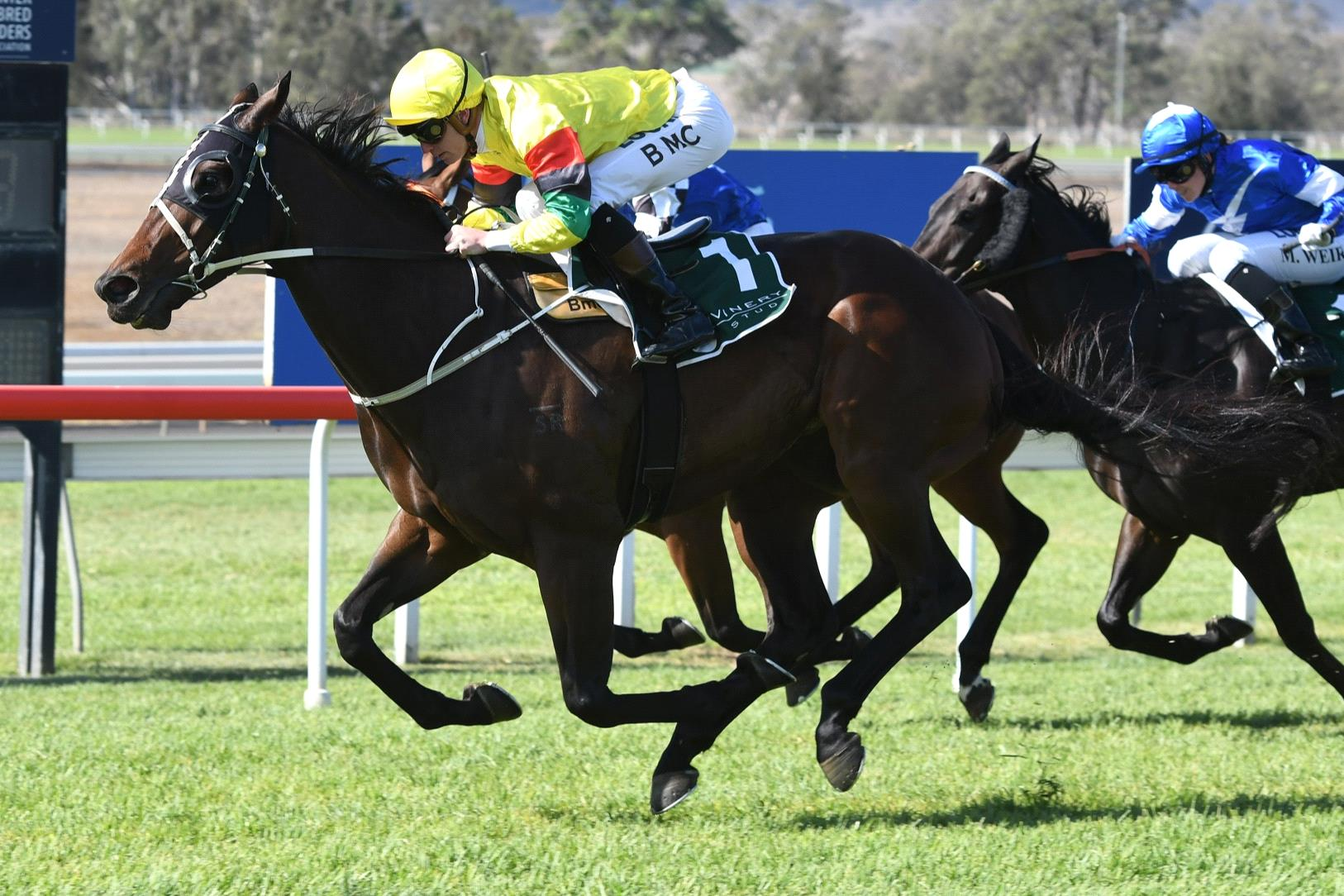 Akasaki winning the same race he contests on Saturday two years ago at Scone.