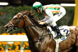Zac Purton posted five wins at Happy Valley on Wednesday night.