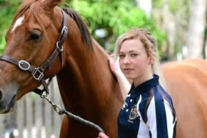 Zoe White was suspended for six months for ignoring a stewards' order to self-isolate.