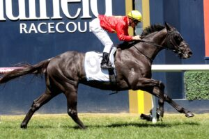 Global Exchange stormed into Australian Derby contention at Caulfield.