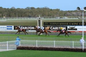 They are racing where the surf meets the turf on Sunday