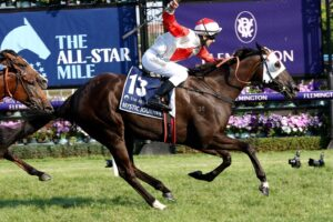 Targeted at this race on her favourite track, I expect Mystic Journey to fire Saturday.