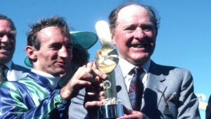 Tommy Smith (pictured) shares joint top spot on the Leading Group 1 Trainers list with another legend in Bart Cummings on 246 victories.