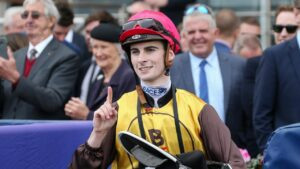 Jockey Teo Nugent faced an inquiry into his riding of speedy mare Lady Solly at Sandown. Photo: AAP Image/George Salpigtidis.