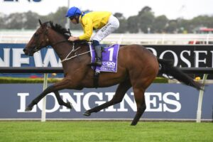 Muntaseera cruises to an easy win in the 2YO race at Rosehill on Saturday.