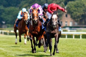 Roaring Lion winning the Eclipse Stakes.
