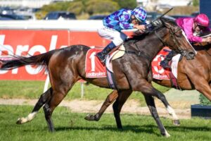 Princess Jenni and Damien Oliver have combined to win the Schweppes Oaks.