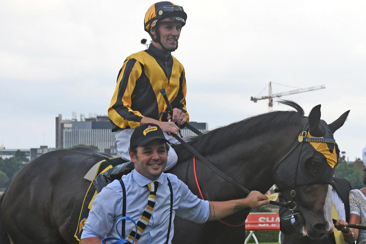 Tye and Trapeze Artist after their All Aged Stakes win last year.
