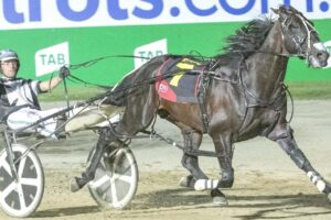 Tiger Tara setting a new track record in the 2018 Inter Dominion Pacers Final.