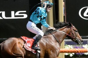 Extra Brut and John Allen win the Victoria Derby.