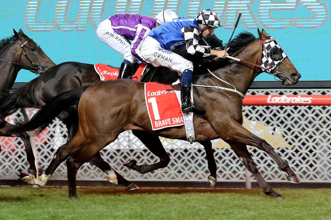 Hugh Bowman celebrated yet another Group I win in the Manikato Stakes.
