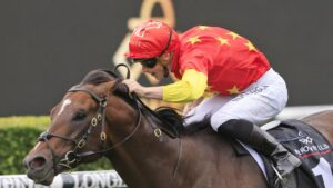 Wild Ruler wins the Arrowfield 3YO Sprint at Randwick. Photo: Mark Evans/Getty Images