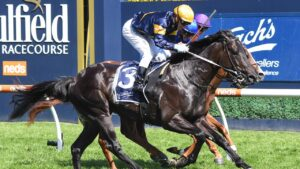 Ranting winning the Group 3 Blue Sapphire Stakes at Caulfield. Picture: Racing Photos