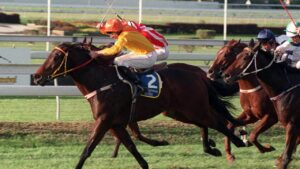 Chief De Beers winning his second Doomben 10,000 in 1998.